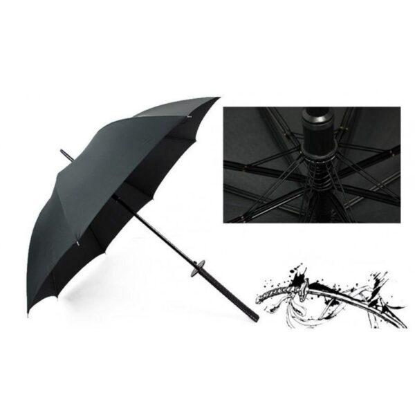 21265 - Зонт меч Катана: 24 спицы (оригинал, полная длина, спицы - стеклопластик!)