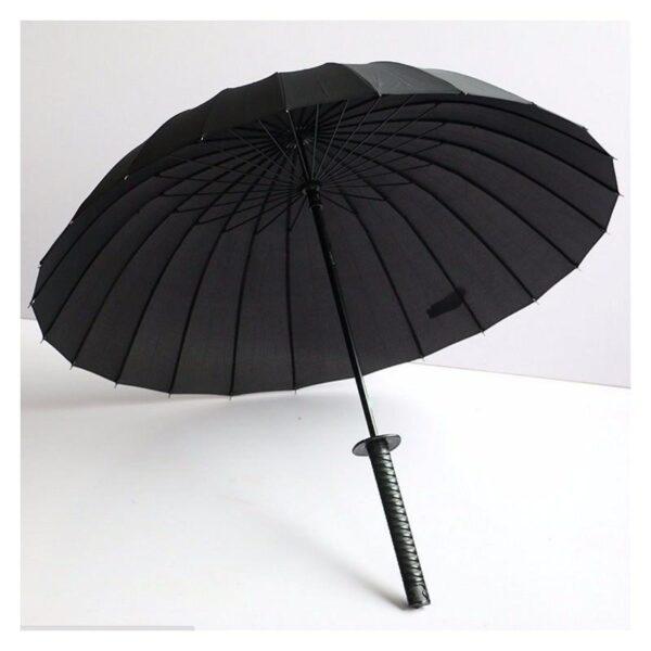 21275 - Зонт меч Катана: 24 спицы (оригинал, полная длина, спицы - стеклопластик!)