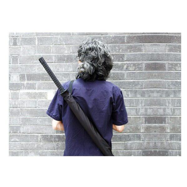 21286 - Зонт меч Катана: 24 спицы (оригинал, полная длина, спицы - стеклопластик!)