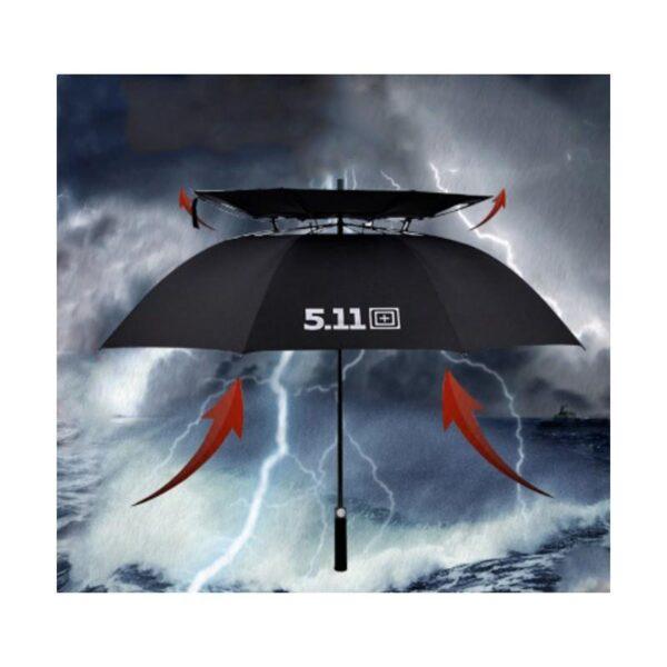 21317 - Ветрозащищенный зонт Wind Of Change 5.11: двойная конструкция верха, каркас из стекловолокна