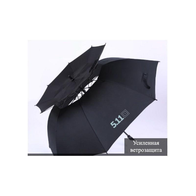 21318 - Ветрозащищенный зонт Wind Of Change 5.11: двойная конструкция верха, каркас из стекловолокна