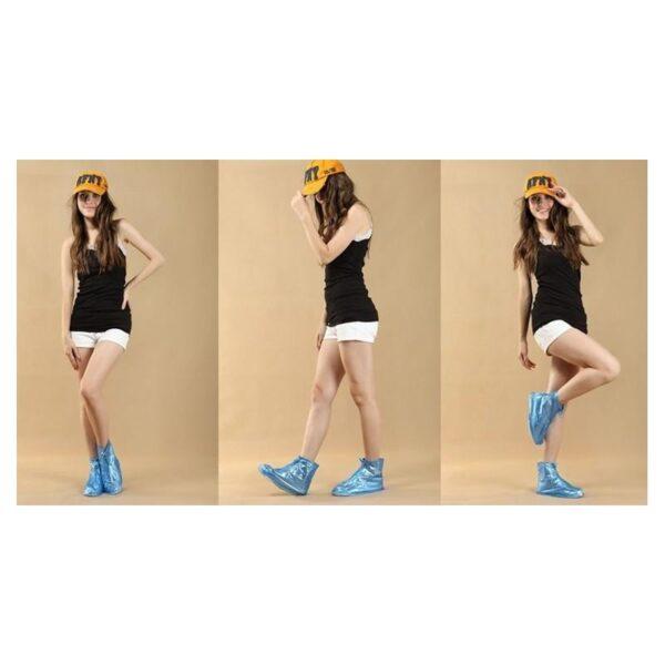 21360 - Складные водонепроницаемые сапоги (чехлы-галоши на обувь)