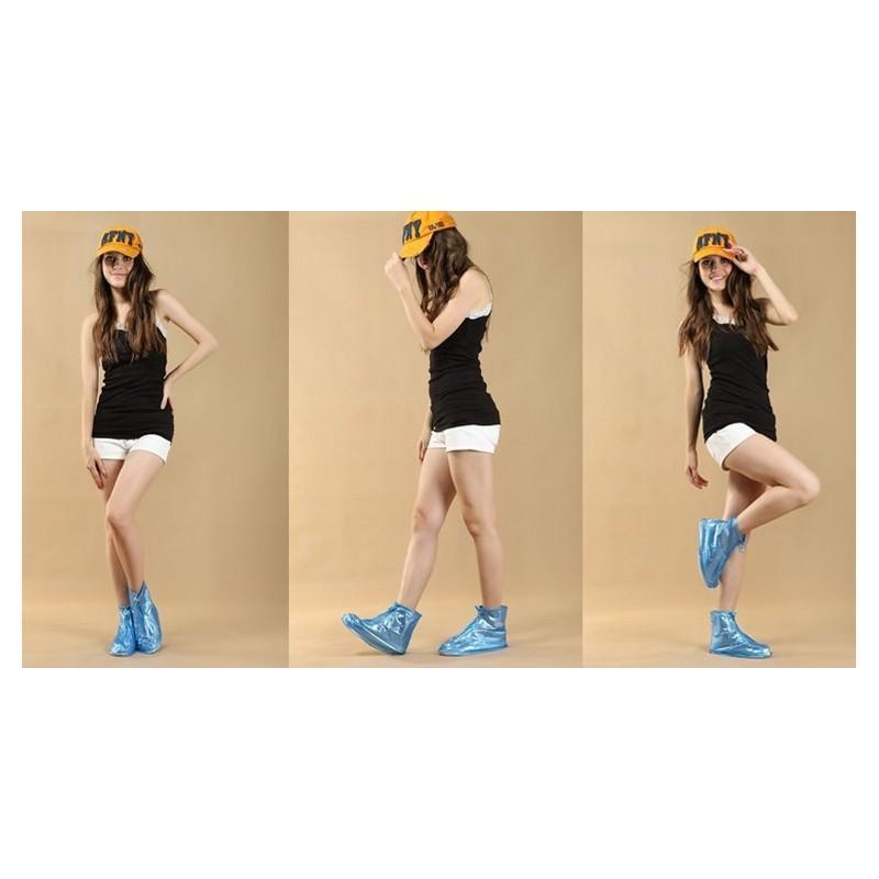 Складные водонепроницаемые сапоги (чехлы-галоши на обувь) 201095