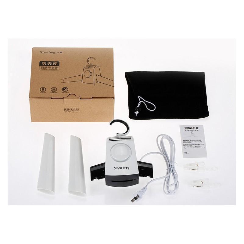 21369 - Электрическая вешалка-сушилка для одежды и обуви - защита от перегрева, стерилизация, складная