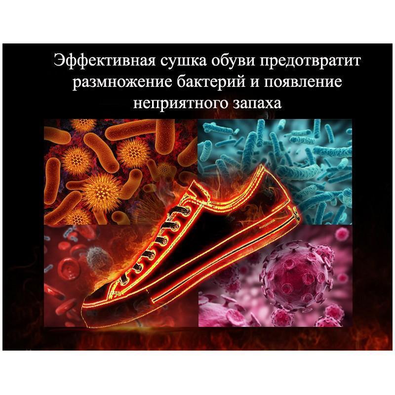 Электросушилка для обуви SuperDry: огнеупорный пластик, раздвижная подошва 201270