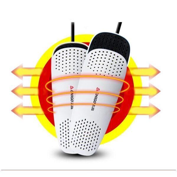 21574 - Электросушилка для обуви SuperDry: огнеупорный пластик, раздвижная подошва