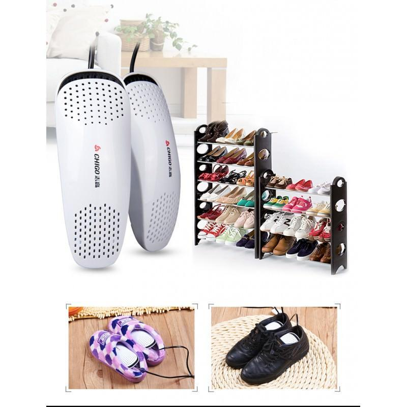 Электросушилка для обуви SuperDry: огнеупорный пластик, раздвижная подошва 201279