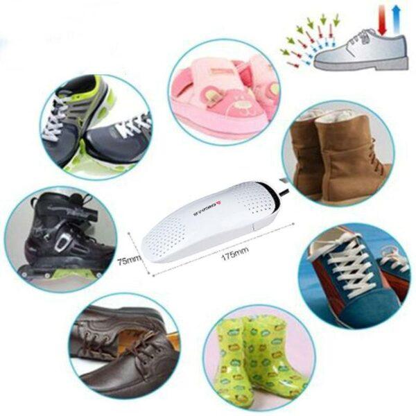 21581 - Электросушилка для обуви SuperDry: огнеупорный пластик, раздвижная подошва