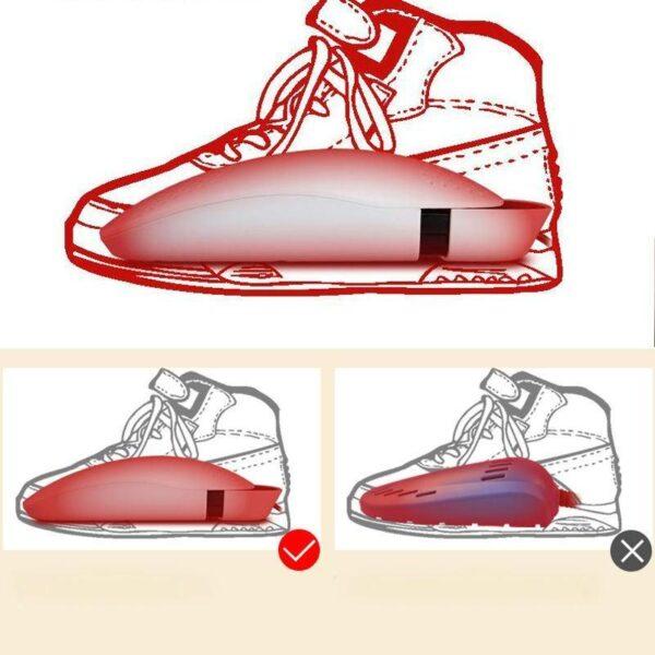 21584 - Электросушилка для обуви SuperDry: огнеупорный пластик, раздвижная подошва