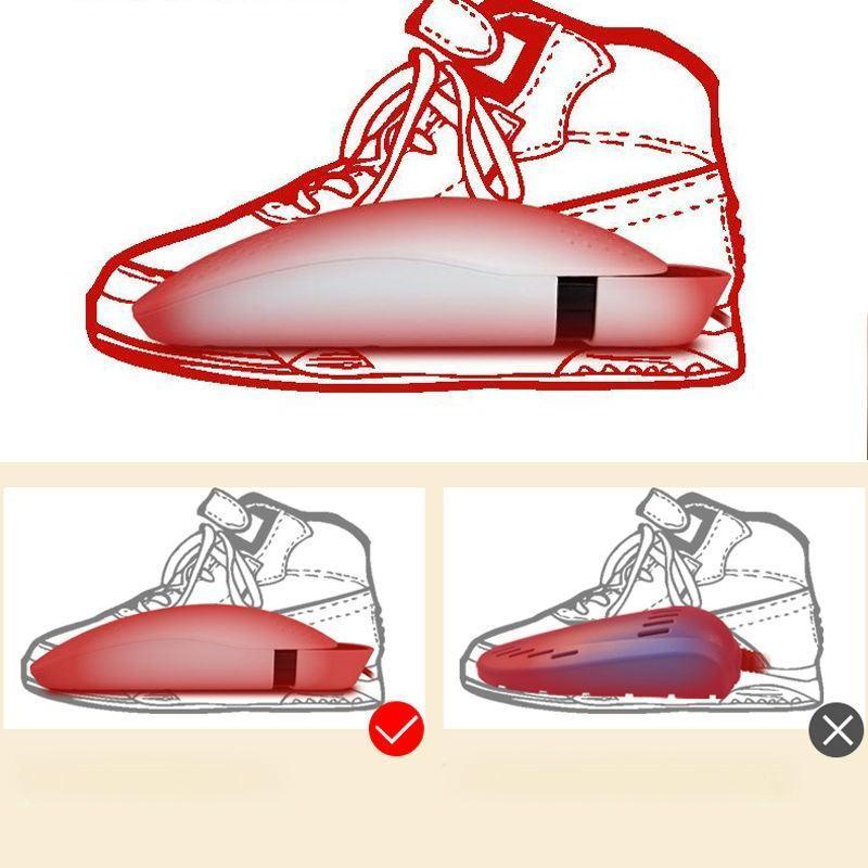 Электросушилка для обуви SuperDry: огнеупорный пластик, раздвижная подошва 201286