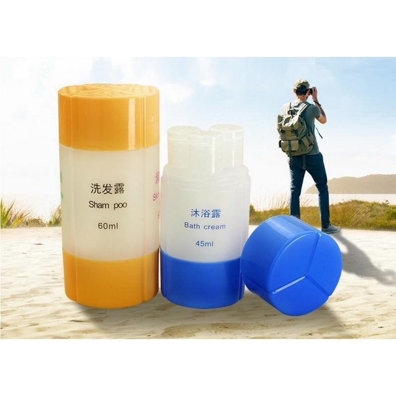 Набор многоразовых бутылочек для косметических средств – для командировок и путешествий
