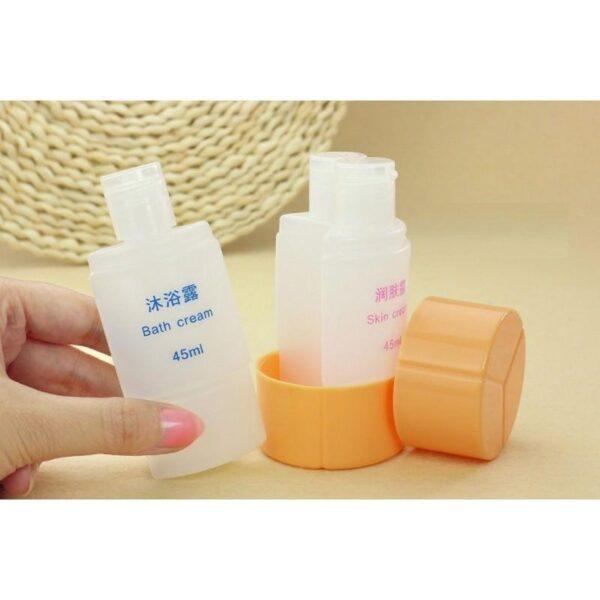 21802 - Набор многоразовых бутылочек для косметических средств - для командировок и путешествий