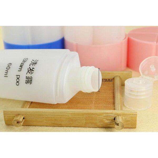 21804 - Набор многоразовых бутылочек для косметических средств - для командировок и путешествий
