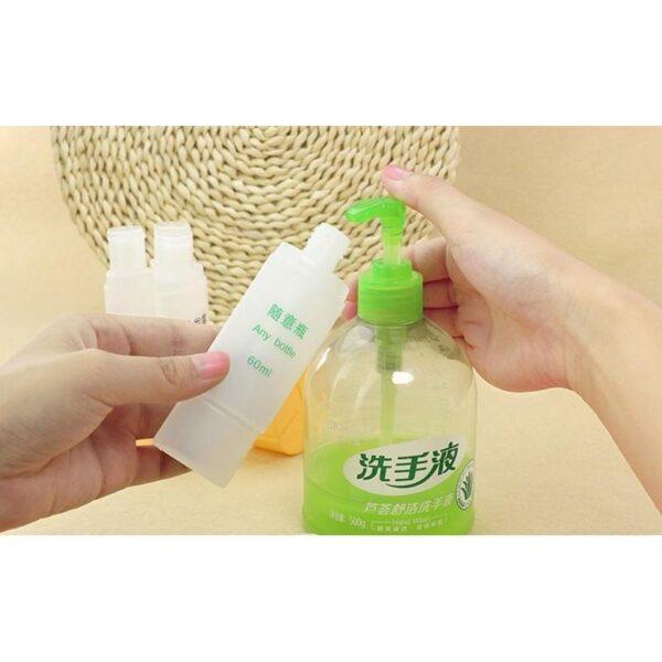 21810 - Набор многоразовых бутылочек для косметических средств - для командировок и путешествий