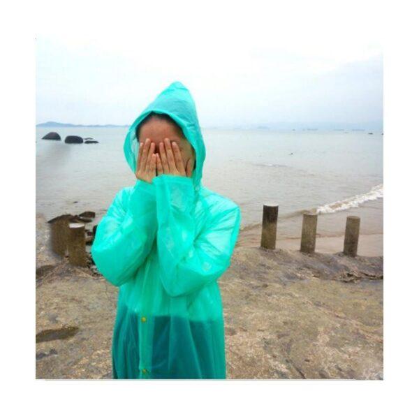21828 - Плащ-дождевик с капюшоном Santura: водонепроницаемый ПВХ