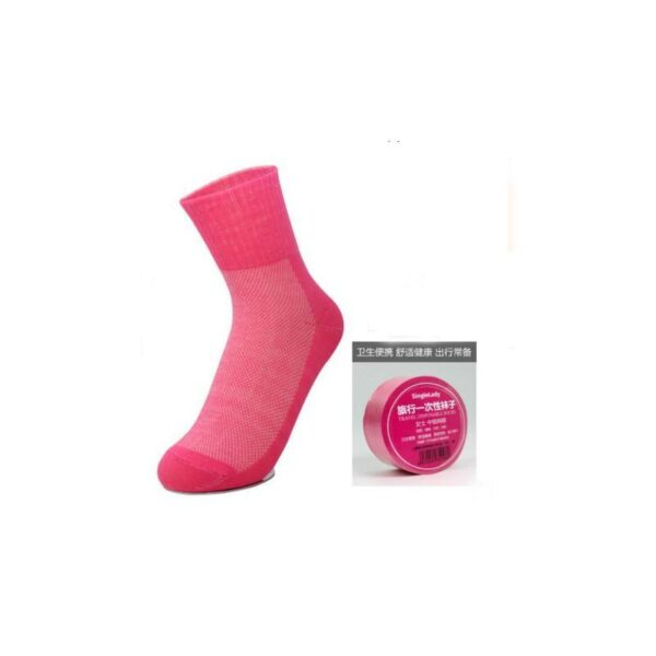 21842 - Прессованные (малообъемные) носки для путешествий и не только: супер-компактное хранение, хлопок