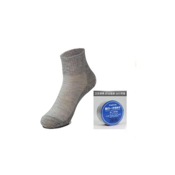 21845 - Прессованные (малообъемные) носки для путешествий и не только: супер-компактное хранение, хлопок