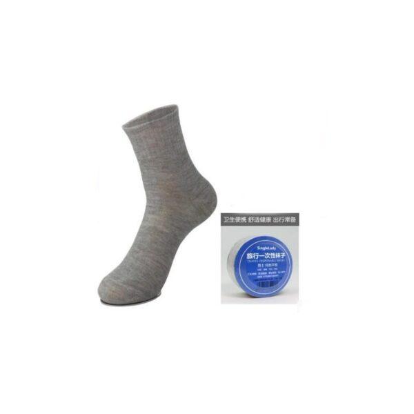 21851 - Прессованные (малообъемные) носки для путешествий и не только: супер-компактное хранение, хлопок