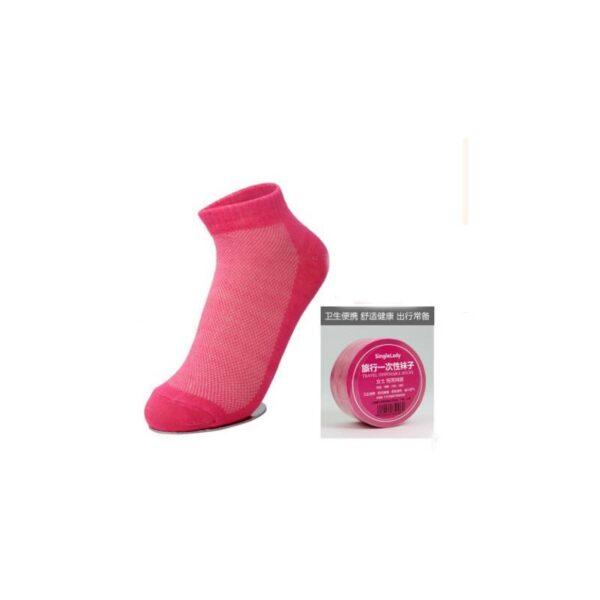21853 - Прессованные (малообъемные) носки для путешествий и не только: супер-компактное хранение, хлопок