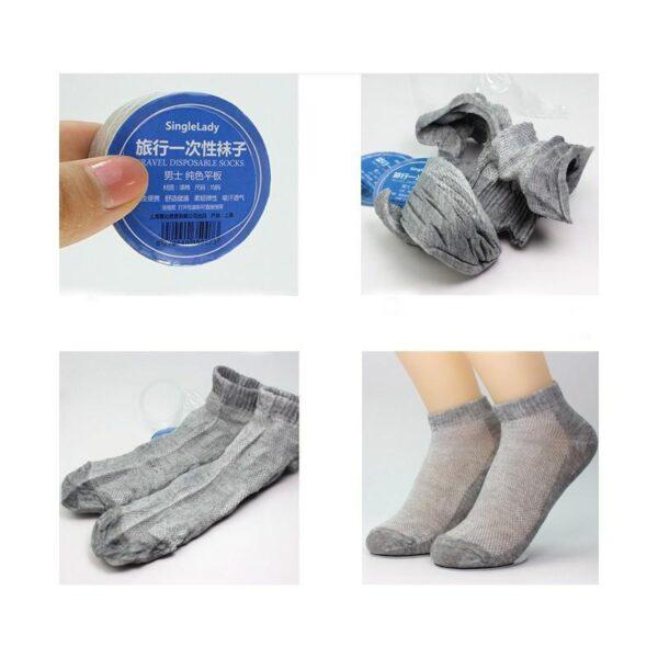 21889 - Прессованные (малообъемные) носки для путешествий и не только: супер-компактное хранение, хлопок