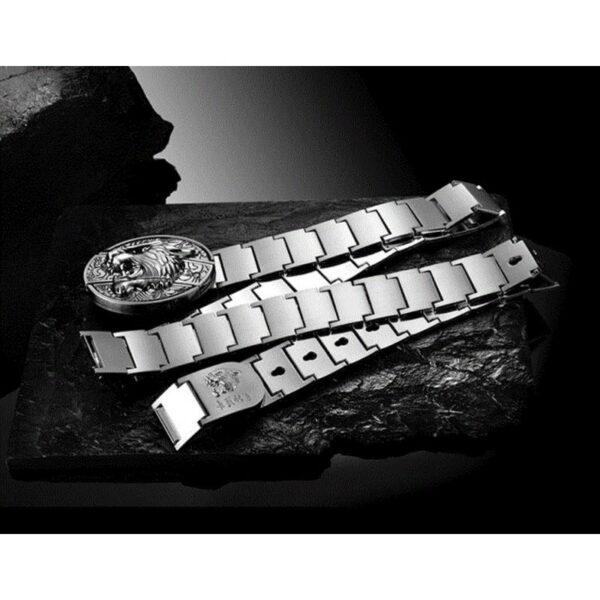 """21956 - Металлический мужской ремень с пряжкой-ножом """"Стальная кобра"""""""