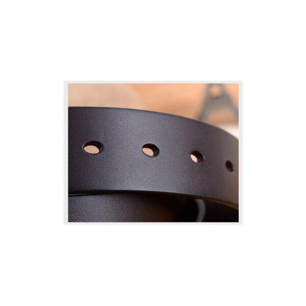 22027 - Кожаный классический ремень Rock Classic: кожа первый слой, цельный металл