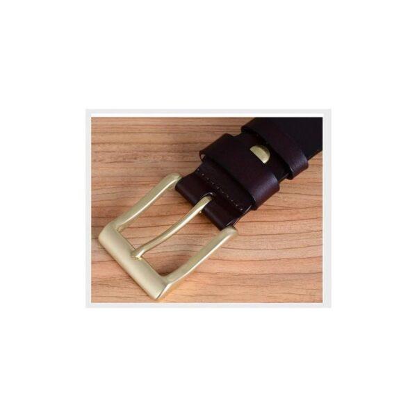 22028 - Кожаный классический ремень Rock Classic: кожа первый слой, цельный металл