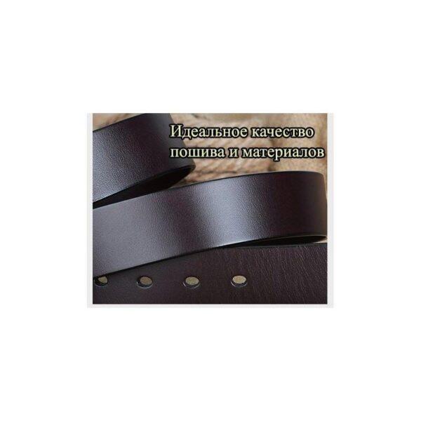 22041 - Кожаный классический ремень Golden Rock: кожа первый слой, цельный металл
