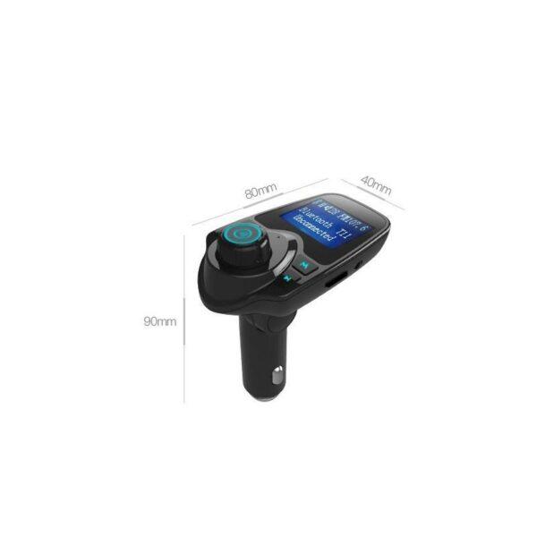 22108 - Автомобильный Bluetooth трансмиттер (FM-передатчик) + USB зарядное T11: 2 USB-порта, поддержка Micro SD-карты 32 Гб, ЖК-экран