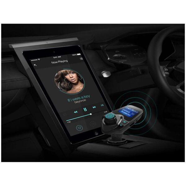 22115 - Автомобильный Bluetooth трансмиттер (FM-передатчик) + USB зарядное T11: 2 USB-порта, поддержка Micro SD-карты 32 Гб, ЖК-экран