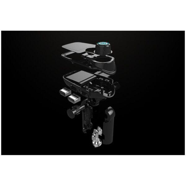 22117 - Автомобильный Bluetooth трансмиттер (FM-передатчик) + USB зарядное T11: 2 USB-порта, поддержка Micro SD-карты 32 Гб, ЖК-экран