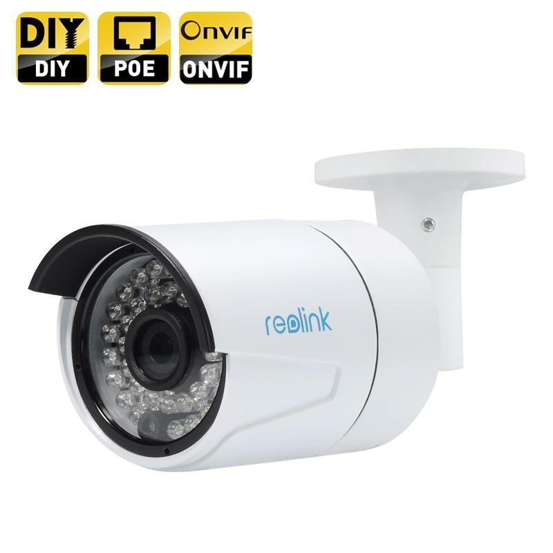 IP HD камера Reolink: 2560 x 1440, ¼ дюйма CMOS, 4 Мп, ночное видение, датчик движения, доступ со смартфона, Onvif 2.0, IP66