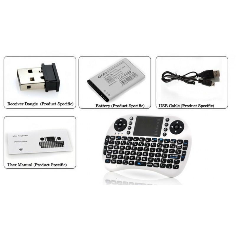 Беспроводная клавиатура-геймпад QWERTY – до 10 метров, до 1 месяца без подзарядки, тачпад 164607