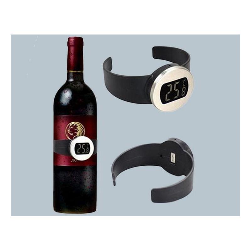 Стильный электронный винный термометр-галстук: для бутылок диаметром 65-80 мм, место под логотип