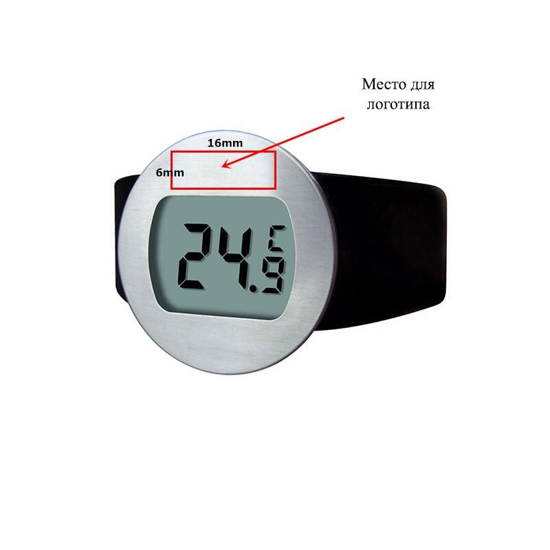 Стильный электронный винный термометр-галстук: для бутылок диаметром 65-80 мм, место под логотип 164730