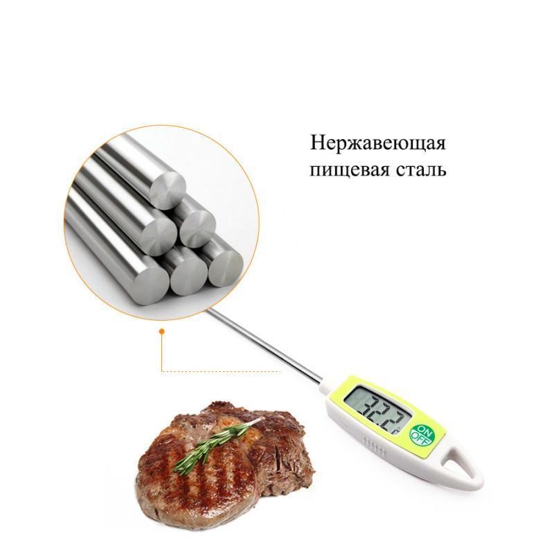 22396 - Универсальный кухонный термометр с щупом Ruona: подходит для любых продуктов, мяса, жидкостей