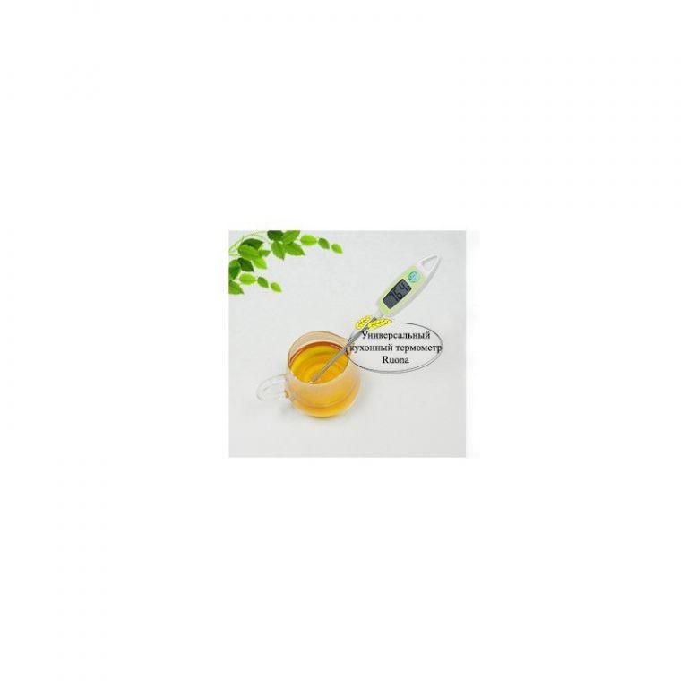 22401 - Универсальный кухонный термометр с щупом Ruona: подходит для любых продуктов, мяса, жидкостей