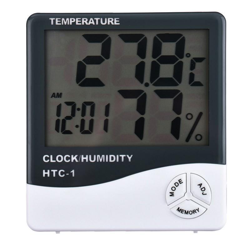 Электронный комнатный термометр-гигрометр HTC-1: температура, влажность, дата, время, будильник 164781