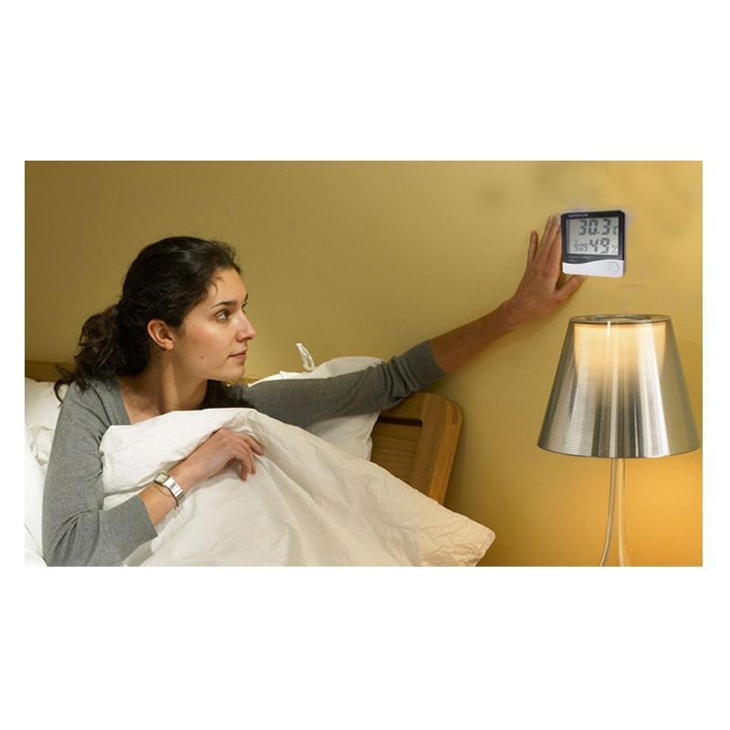 Электронный комнатный термометр-гигрометр HTC-1: температура, влажность, дата, время, будильник 164789
