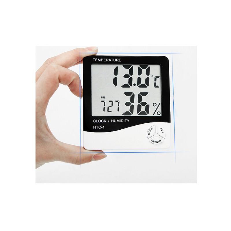 Электронный комнатный термометр-гигрометр HTC-1: температура, влажность, дата, время, будильник 164790