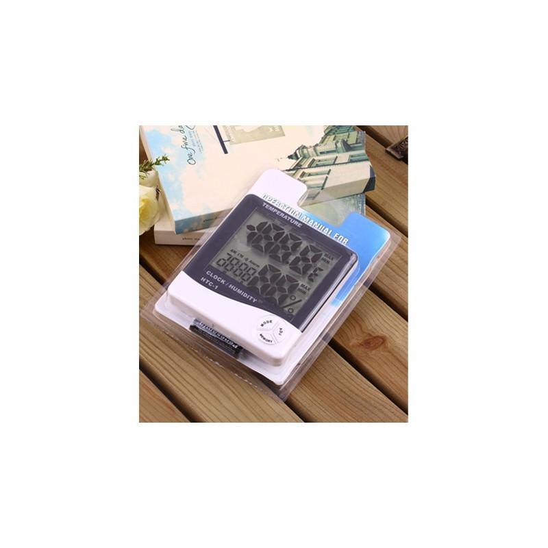 Электронный комнатный термометр-гигрометр HTC-1: температура, влажность, дата, время, будильник 164792