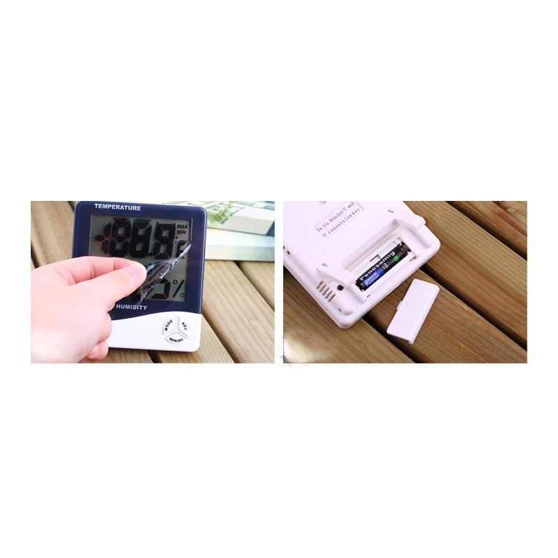 Электронный комнатный термометр-гигрометр HTC-1: температура, влажность, дата, время, будильник 164793