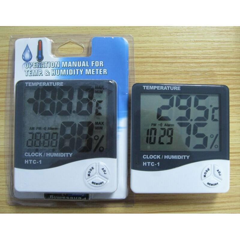 Электронный комнатный термометр-гигрометр HTC-1: температура, влажность, дата, время, будильник 164797