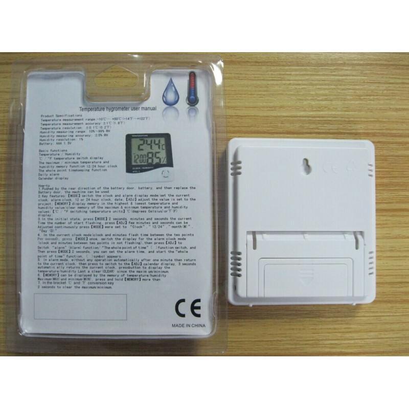 Электронный комнатный термометр-гигрометр HTC-1: температура, влажность, дата, время, будильник 164798