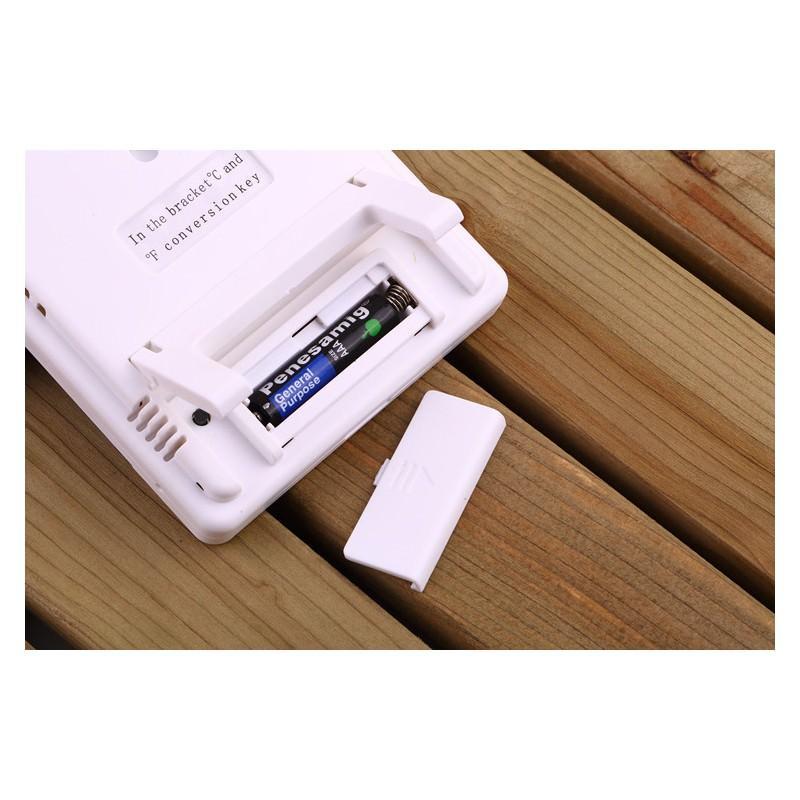 Электронный комнатный термометр-гигрометр HTC-1: температура, влажность, дата, время, будильник 164802