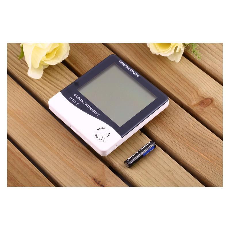 Электронный комнатный термометр-гигрометр HTC-1: температура, влажность, дата, время, будильник 164803