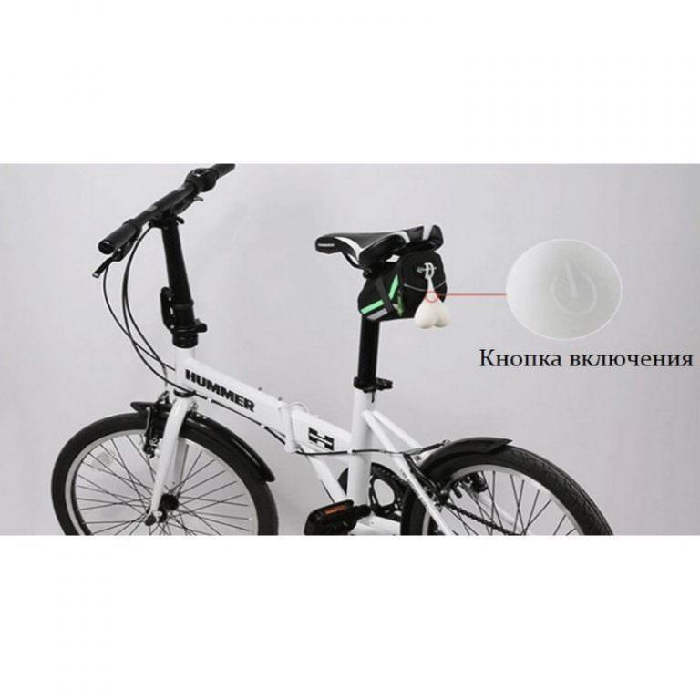 22503 - Силиконовая задняя велосипедная фара с LED-подсветкой