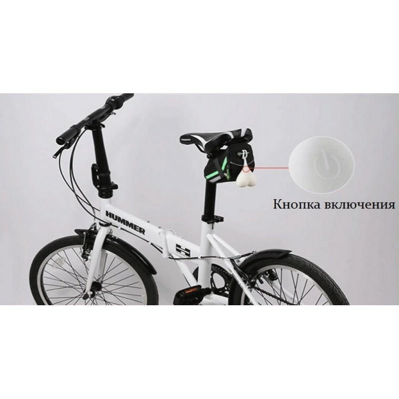 Силиконовая задняя велосипедная фара с LED-подсветкой 164876