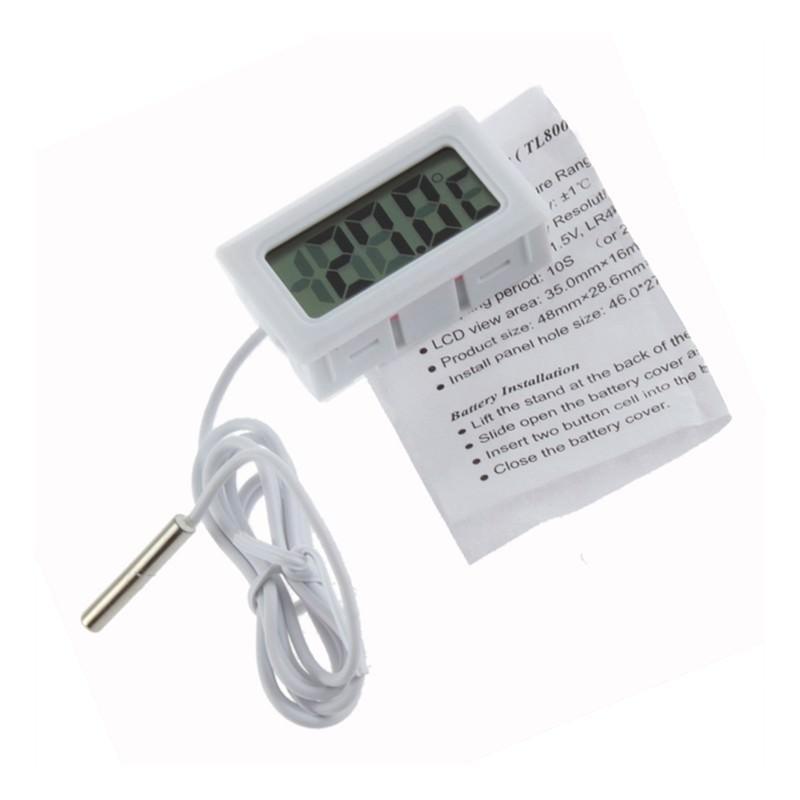 Электронный термометр с выносным водонепроницаемым зондом для аквариума/ холодильника 165112