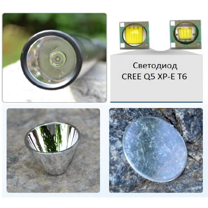 Мощный фонарь-бита FX-113 со светодиодом от CREE 165249